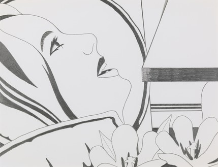 Tom Wesselmann, Bedroom Face Drawing, 1977–79 Pencil on 100% Bristol board, 29 ⅛ × 38 ⅛ inches (74 × 96.8 cm)© The Estate of Tom Wesselmann/Licensed by VAGA, New York