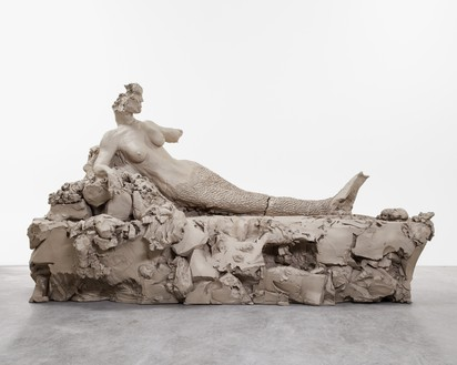 Urs Fischer, mermaid, 2014 Cast bronze, 40 ½ × 48 × 84 inches (102.9 × 121.9 × 213.4 cm), edition of 2© Urs Fischer. Photo: Melissa Christy
