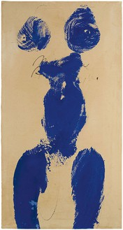 Yves Klein, Monique (ANT 59), 1960 Dry pigment and synthetic resin on paper mounted on canvas, 30 ⅛ × 15 ⅞ inches (76.5 × 40.3 cm)© Yves Klein/2016 Artist Rights Society (ARS), New York/ADAGP, Paris 2016