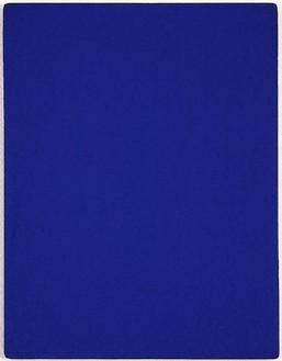 Yves Klein, IKB 164, 1962 Pigment and synthetic resin on fabric laid down on board, 25 13/16 × 19 ⅝ inches (65.5 × 49.8 cm)© Yves Klein, ADAGP, Paris/DACS, London