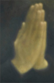 Y. Z. Kami, Untitled (Hands) I, 2013 Oil on linen, 108 × 72 inches (274.3 × 182.9 cm)© Y.Z. Kami