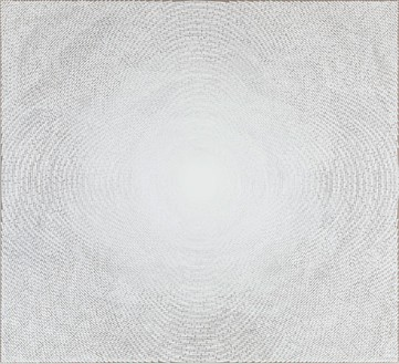 Y. Z. Kami, White Dome IV, 2010 Acrylic on linen, 70 × 77 inches (177.8 × 195.6 cm)© Y.Z. Kami
