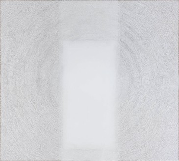 Y. Z. Kami, White Dome I, 2011–13 Acrylic on linen, 124 × 137 inches (315 × 348 cm)© Y.Z. Kami. Photo: Rob McKeever