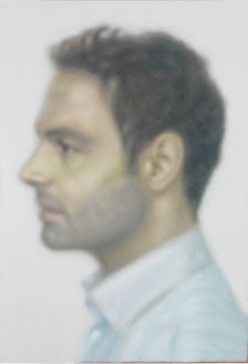 Y. Z. Kami, Daya in Profile, 2014 Oil on linen, 118 × 80 inches (299.7 × 203.2 cm)© Y.Z. Kami. Photo: Rob McKeever