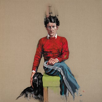 Zeng Fanzhi, Lucian Freud, 2017 Oil on canvas, 70 ⅞ × 70 ⅞ inches (180 × 180 cm)© Zeng Fanzhi Studio