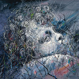 Zeng Fanzhi, The Christ Child, 2012 Oil on canvas, 59 × 59 inches (150 × 150 cm)© Zeng Fanzhi Studio