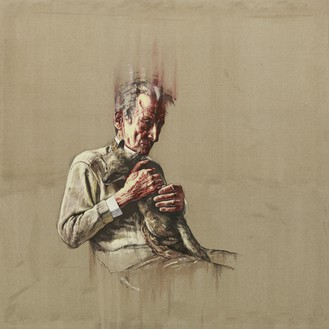 Zeng Fanzhi, Artist Series Lucian Freud, 2011 Oil on canvas, 70 ⅞ × 70 ⅞ inches (180 × 180 cm)© Zeng Fanzhi Studio