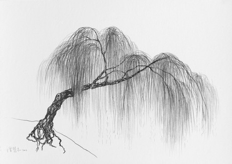 Zeng Fanzhi, Jing Hu Xi Liu, 2012 Pencil on paper, 19 ¾ × 27 ⅝ inches (50 × 70 cm)© Zeng Fanzhi Studio