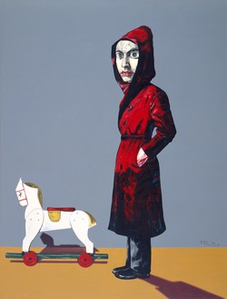 Zeng Fanzhi, Portrait, 2004 Oil on canvas, 78 ¾ × 59 ⅛ inches (200 × 150 cm)© Zeng Fanzhi Studio