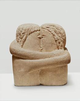 Constantin Brancusi, The Kiss, 1907 Stone, 11 × 10 × 8 ½ inches (27.9 × 25.4 × 21.6 cm)