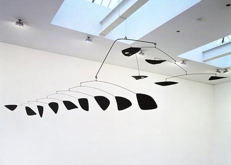Alexander Calder, Big, Big Black, 1957 Hanging mobile: painted metal, 117 × 223 inches (297.2 × 566.4 cm)