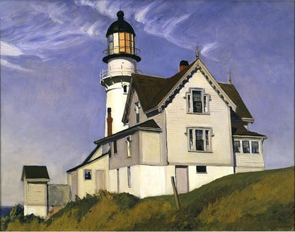 Edward Hopper, Captain Upton's House, 1927 Oil on canvas, 28 ¼ × 36 ¼ inches (71.8 × 92.1 cm)
