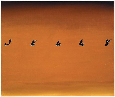Ed Ruscha, Jelly, 1967 Oil on canvas, 20 × 23 ⅞ inches (50.8 × 60.6 cm)