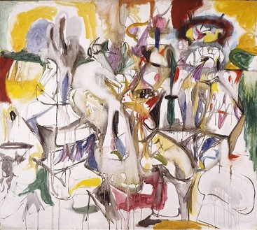 Arshile Gorky, How My Mother's Embroidered Apron Unfolds In..., 1944 Oil on canvas, 40 × 45 inches (101.6 × 114.3 cm)