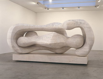 Henry Moore, Reclining Connected Forms, 1969–74 Roman travertine marble, 122 × 204 × 93 ½ inches (309.9 × 518.2 × 237.5 cm)
