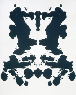 Andy Warhol, Rorschach, 1984 Synthetic polymer paint and silkscreen ink on canvas, 90 × 70 inches (228.6 × 177.8 cm)