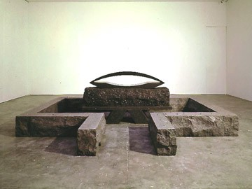 Elyn Zimmerman, XX, 1995–96 Granite and plaster, 87 ⅝ × 192 × 146 inches (222.5 × 487.7 × 370.8 cm)