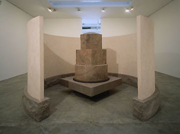 Elyn Zimmerman, XY, 1995–96 Granite and plaster, 102 × 192 × 192 inches (259.1 × 487.7 × 487.7 cm)