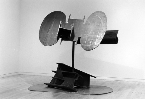 Mark Di Suvero, To Be, 1996 Steel and stainless steel, 111 × 97 × 89 inches (281.9 × 246.4 × 226.1 cm)