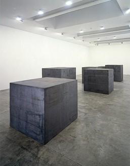 Installation view with 58 × 64 × 70 (1996) Artwork © Richard Serra/Artists Rights Society (ARS), New York