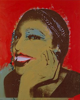 Andy Warhol, Ladies and Gentleman, 1975 Synthetic polymer paint and silkscreen ink on canvas, 50 × 40 inches (127 × 101.6 cm)