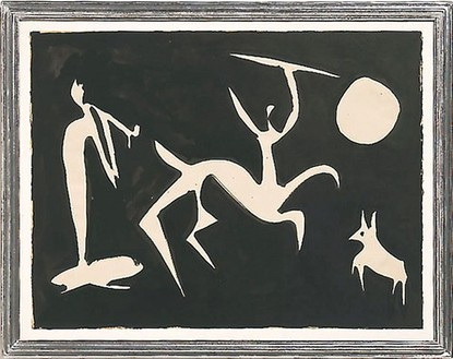 Pablo Picasso, Jeux de Centaures, 1948 Ink on paper, 23 ½ × 29 ¾ inches (59.7 × 75.6 cm)