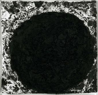 Richard Serra, Robert Frank, 1997 Paintstick on paper, 40 ½ × 42 inches (102.9 × 106.7 cm)