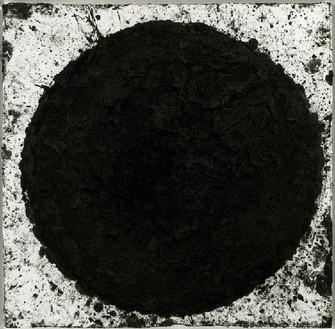 Richard Serra, Burroughs, 1997 Paintstick on paper, 55 × 56 inches (139.7 × 142.2 cm)
