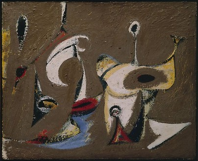 Arshile Gorky, Painting, 1942 Oil on canvas, 20 × 24 inches (50.8 × 60.1 cm)