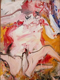 Willem de Kooning, Woman on a Sign I, 1967 Oil on paper mounted on canvas, 47 ⅝ × 35 ¾ inches (121 × 90.8 cm)