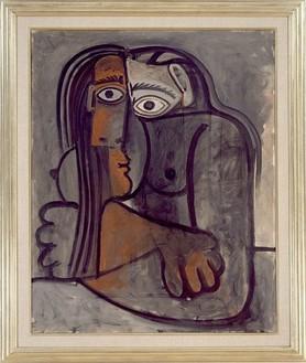 Pablo Picasso, Femme aux Bras Croises, 1960 Oil on canvas, 39 ⅜ × 32 inches (100 × 81.3 cm)