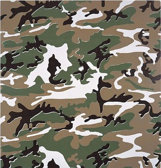 Andy Warhol, Camouflage, 1986 Synthetic polymer paint and silkscreen ink on canvas, 80 × 76 inches (203.2 × 193 cm)