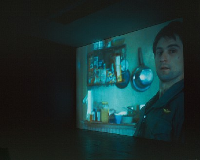 Douglas Gordon, through a looking glass, 1999 2 video projections, Dimensions variable
