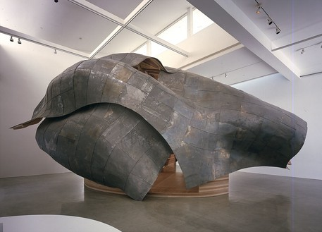 Frank Gehry, A Study, 1999 (view 1) Maple wood and lead, 20 × 40 × 25 feetPhoto by Douglas M. Parker Studio