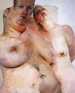 Jenny Saville, Ruben's Flap, 1999 Oil on canvas, 120 × 96 inches (304.8 × 243.8 cm)