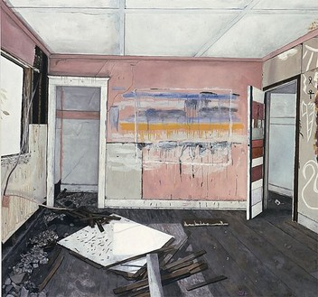 Kristin Calabrese, Girlfriend, 2000 Oil on canvas, 102 × 108 inches (259.1 × 274.3 cm)