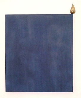 Robert Therrien, No title, 2000 Tin on bronze, wood, blue pigment, 80 × 70 × 7 inches (203.2 × 177.8 × 17.8 cm)