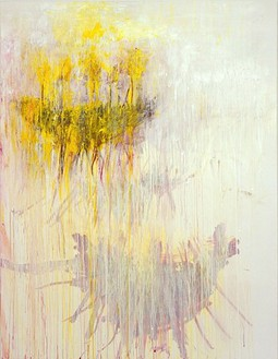 Cy Twombly, Coronation of Sesostris, 2000 Mixed media on canvas, 79 ⅜ × 60 ⅞ inches (201.6 × 154.6cm)