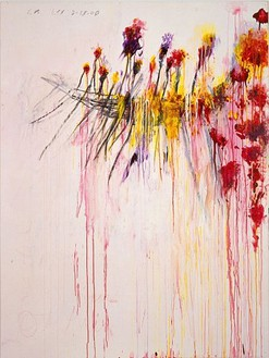 Cy Twombly, Coronation of Sesostris, 2000 Acrylic, wax crayon and lead pencil on canvas, 81 ⅛ × 61 ⅝ inches (206.1 × 156.5 cm)