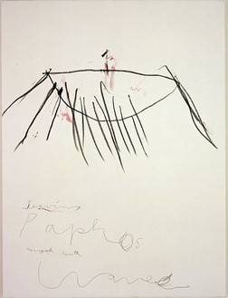 Cy Twombly, Coronation of Sesostris, 2000 Acrylic, wax crayon and pencil on canvas, 81 ⅝ × 61 ⅜ inches (207.3 × 155.9cm)