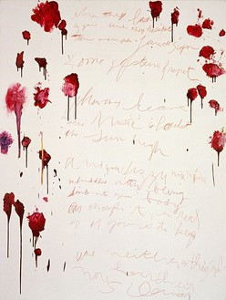 Cy Twombly, Coronation of Sesostris, 2000 Mixed media on canvas, 80 3/16 × 61 ¼ inches (203.7 × 155.6cm)