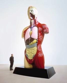 Damien Hirst, Hymn, 2000 Painted bronze, 240 × 108 × 48 inches (609.6 × 274.3 × 121.9 cm), edition of 3© Damien Hirst and Science Ltd. All rights reserved, DACS 2020
