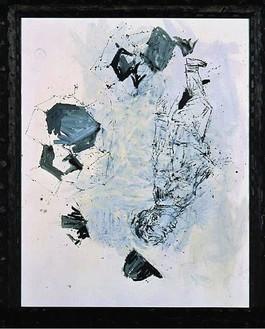 Georg Baselitz, Hut ab - Die schoene Wiese, 20 IX - 30 IX, 2000 Oil on canvas in frame, 122 ¾ × 100 ⅜ inches framed (312 × 255 cm)