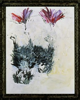 Georg Baselitz, Tama, 28 X - 30 X, 2000 Oil on canvas in frame, 122 ¾ × 100 ⅜ inches framed (312 × 255 cm)