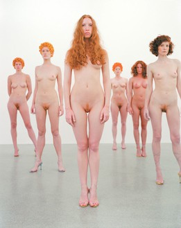 Vanessa Beecroft, VB43.009.te (Small), 2000 Vibracolor print, 35 × 25 inches framed (88.9 × 63.5 cm), edition of 6