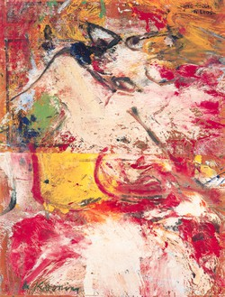 Willem de Kooning, League, 1964 Oil on newsprint mounted on board, 30 ⅛ × 23 ⅛ inches (76.5 × 58.7 cm)© The Willem de Kooning Foundation/Artists Rights Society (ARS), New York