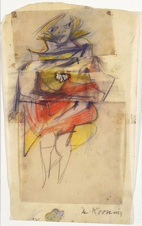 Willem de Kooning, Study for Marilyn Monroe, 1951 Pastel and pencil on paper, 16 ¾ × 9-11/16 inches (42.5 × 24.6 cm)
