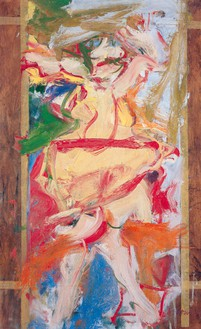 Willem de Kooning, Sag Harbor, 1965 Oil on paper mounted on board with masking tape, 31 ⅝ × 19 ⅝ inches (80.3 × 49.8 cm)© The Willem de Kooning Foundation/Artists Rights Society (ARS), New York