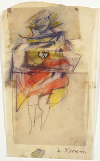 Willem de Kooning, Study for Marilyn Monroe, 1951 Pastel and pencil on paper, 16 ¾ × 9 ¾ inches (42.5 × 24.6 cm)© The Willem de Kooning Foundation/Artists Rights Society (ARS), New York