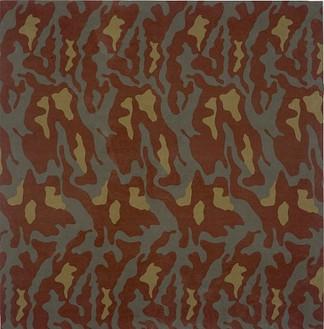 Alighiero E Boetti, Mimetico, 1967 Camouflage fabric, 69 × 118 inches (175.3 × 299.7cm)